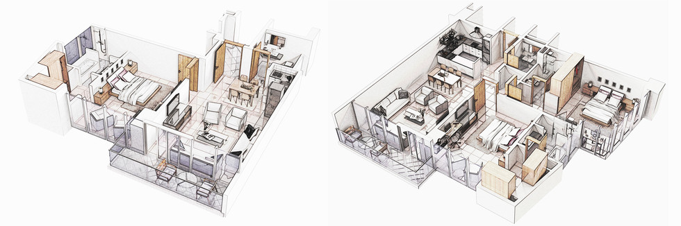 Seef Avenue Combined Isometric Sketch 1&