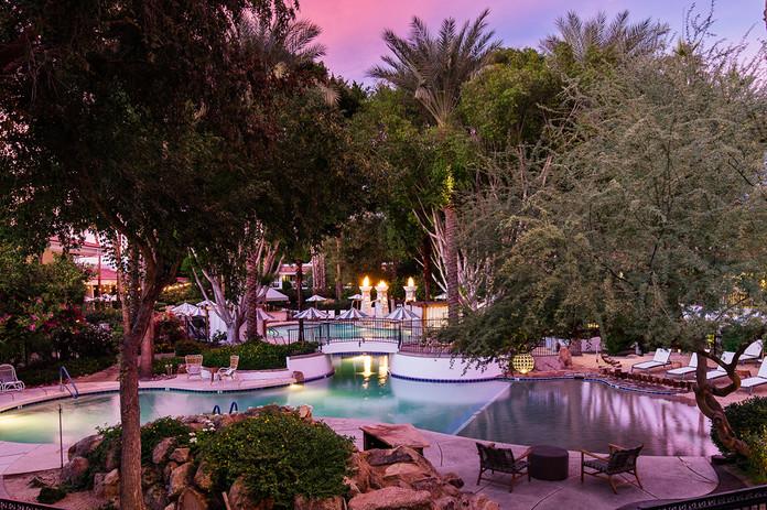 The Scott - Pool at Sunset