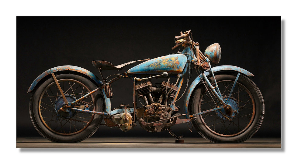 "96""x 48"" Limited Edition Aluminum Print  1933 INDIAN MOTOPLANE"