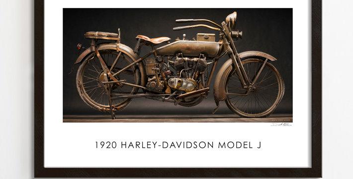 "1920 Harley Model J  30""x 20"" Print."