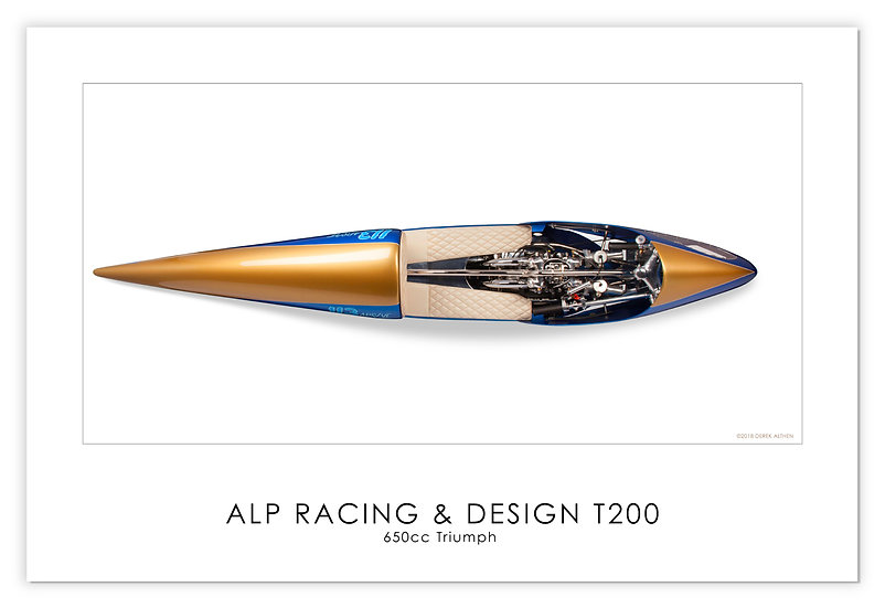 """Triumph 650cc """"T200"""" 30""""x 20"""" Print"""