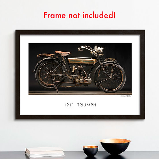 "1911 Triumph 30""x 20"" Print."
