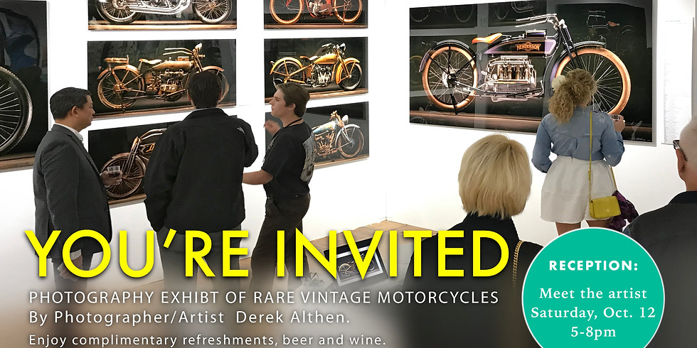 PHOTOGRAPHY EXHIBT OF RARE VINTAGE MOTORCYCLES
