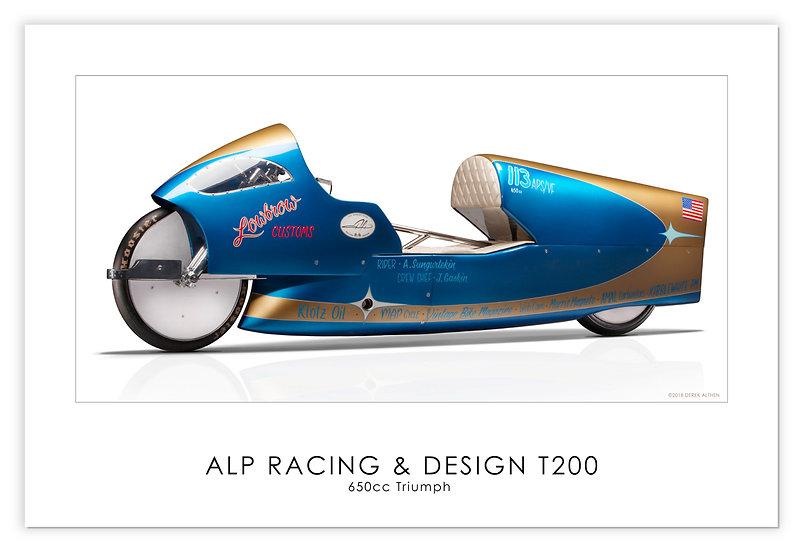 "Triumph650cc pre unit ""T200"" 30""x 20"" Print."
