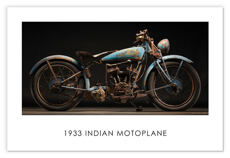 "1933 Indian Motoplane  30""x 20"" Archival Poster"