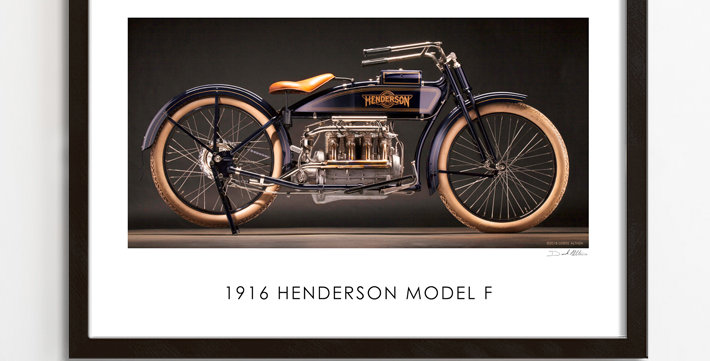 "1916 Henderson F 30""x 20"" Poster."