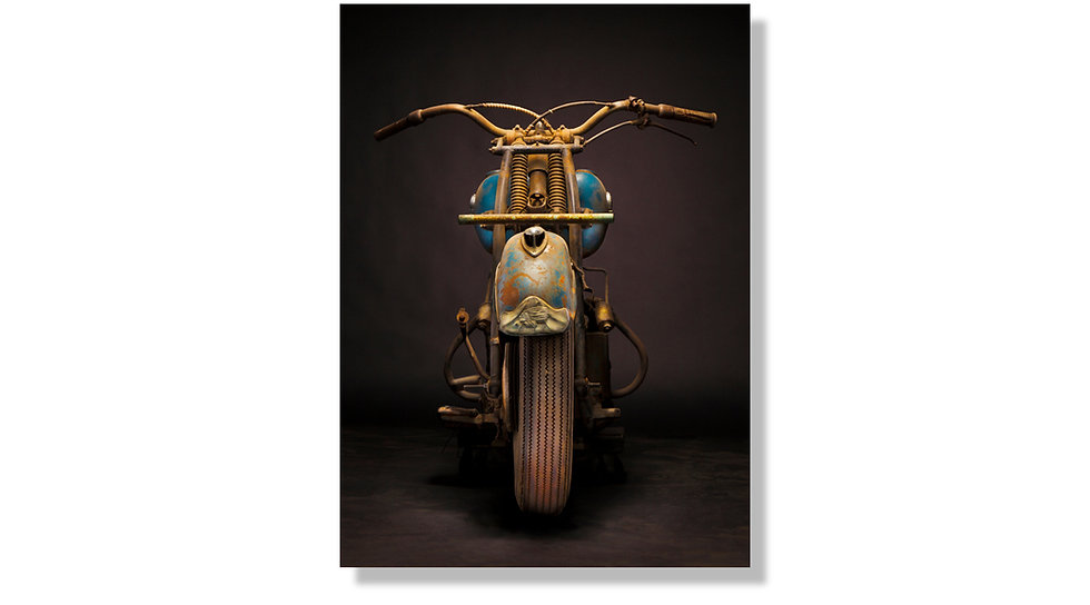 "33""x 48"" Limited Edition Aluminum Print 1946 Indian Chief"