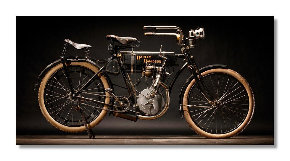 "96""x 48"" Limited Edition Aluminum Print  1905 Harley Strap Tank"