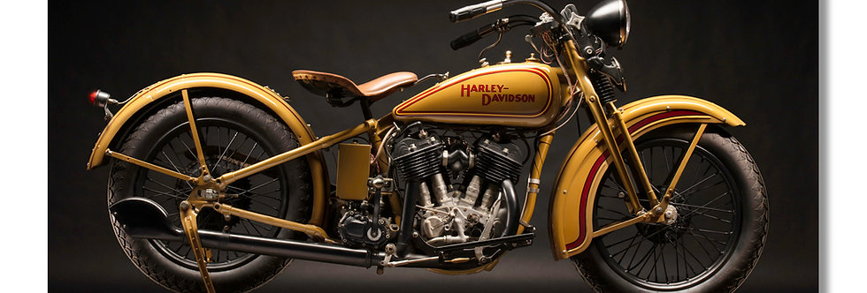 """96""""x 48"""" Limited Edition Aluminum Print  1930 Harley VC"""