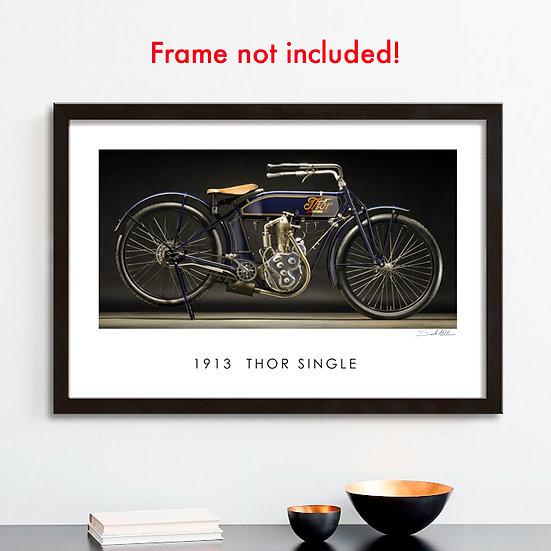 "1913 Thor Single 30""x 20"" Archival Print."