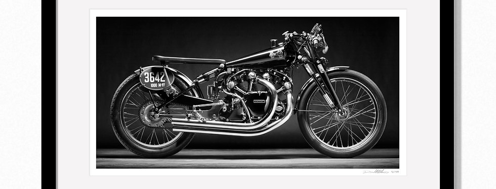 "1950 Black Lightning. Large 44'x 24"" Limited edition print."