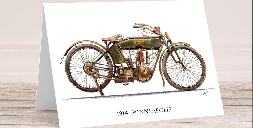 1914 Minneapolis  5x7 Card with envelope.