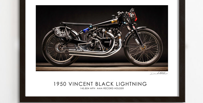 "Vincent Black Lightning 30""x 20"" Archival Print."