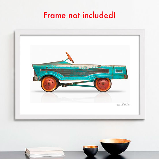 "1950's era pedal car 30""x 20"" Archival Print."