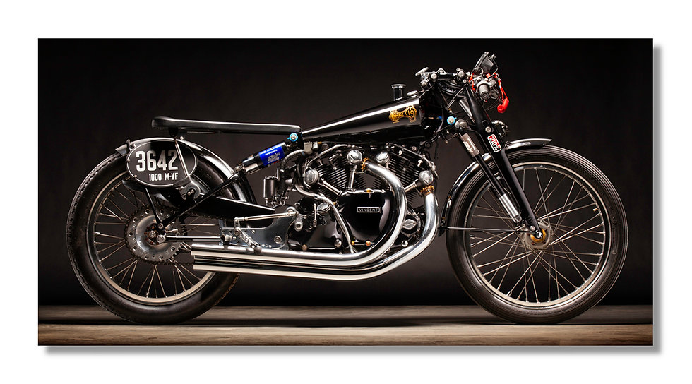 "96""x 48"" Limited Edition Aluminum Print  1950 Vincent Black Lightning"
