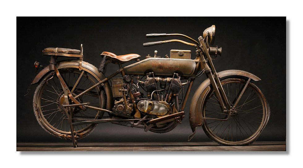 "96""x 48"" Limited Edition Aluminum Print  1920 Harley Model J"