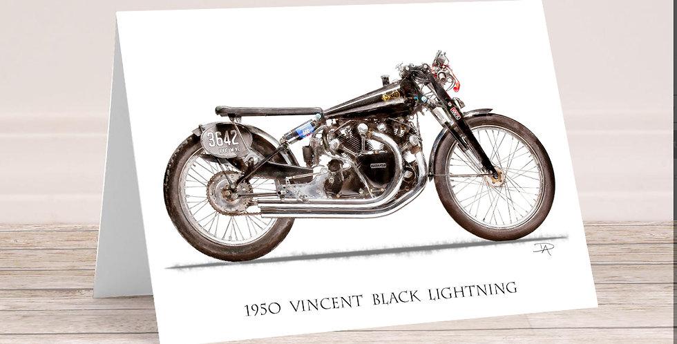 1950 Vincent Black Lighting 5x7 Card with envelope.
