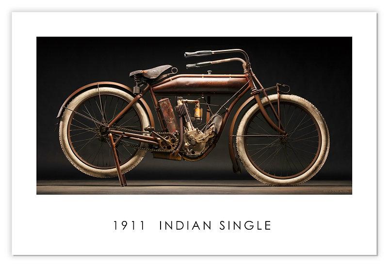 "1911 Indian Single  30""x 20"" Print."