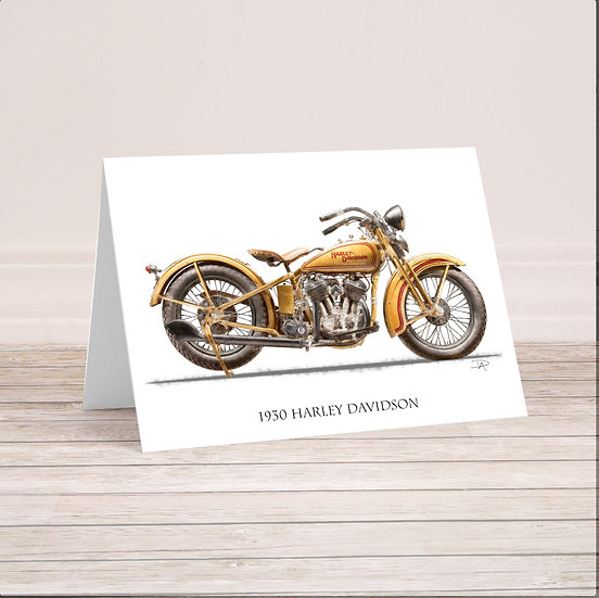 1930 Harley Davidson 5x7 Card with envelope.