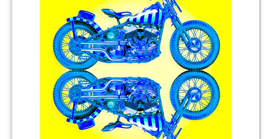 "1947 Harley-Davidson UL ""Moonshiner"" 16""x 16"" Archival Print."