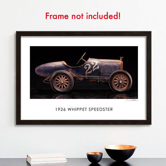 """1926 Whippet Speedster  30""""x 20"""" Print."""