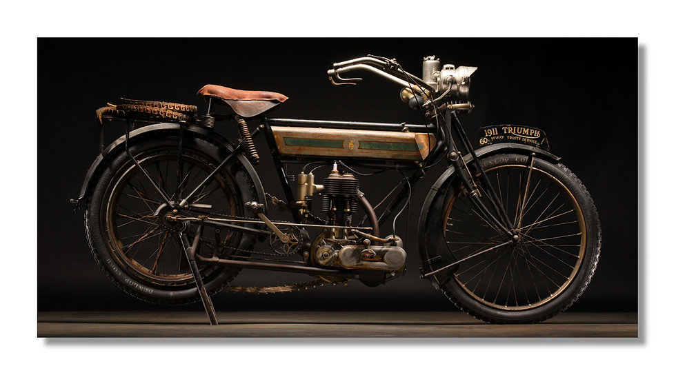 "48""x 24"" Limited Edition Aluminum Print  1911 Triumph"