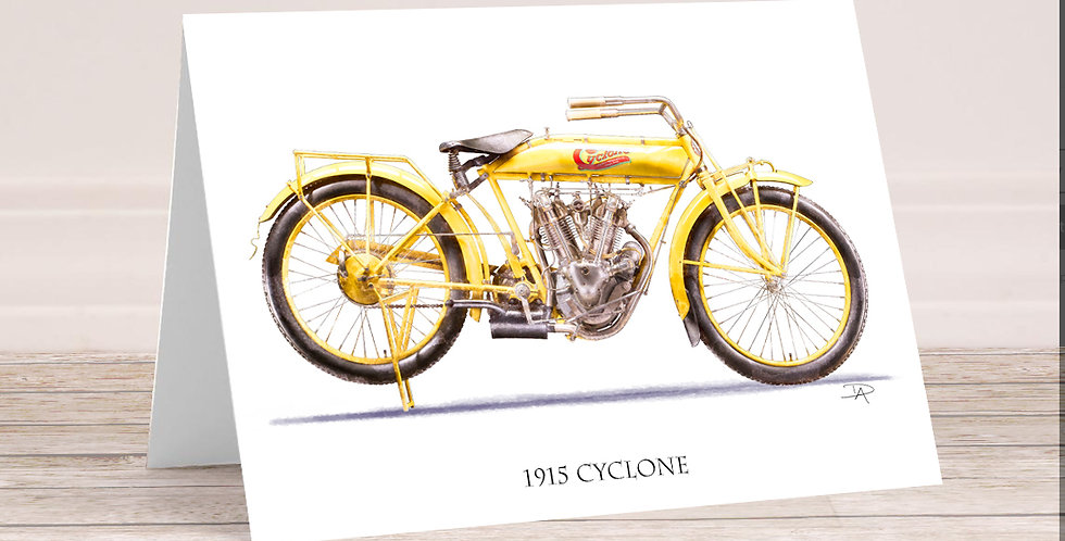 1915 Cyclone 5x7 Card with envelope.