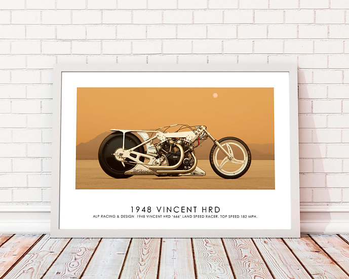 "1948 Vincent HRD  ( Side A)  30""x 20"" Print."