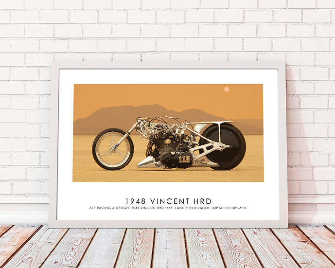 "1948 Vincent HRD  ( Side B)  30""x 20"" Print."