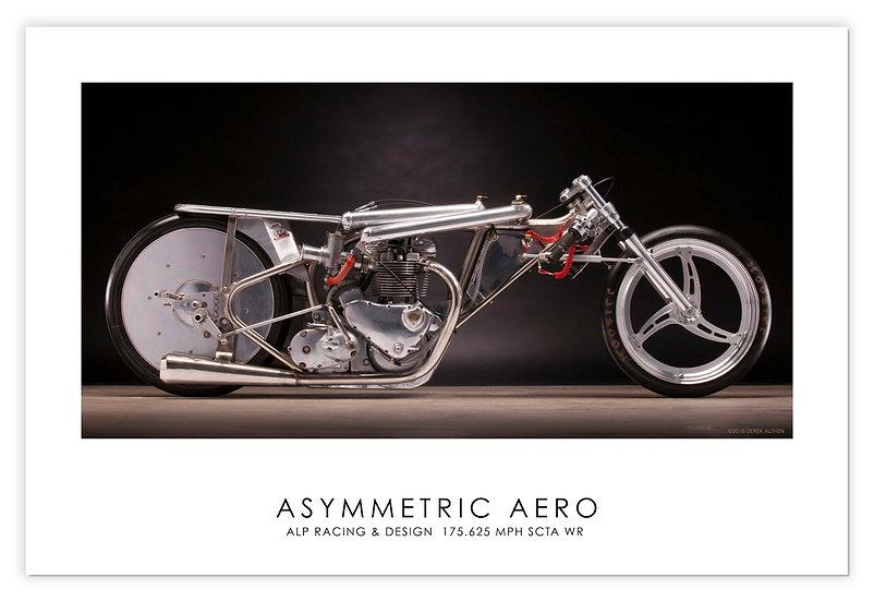 """1964 Triumph""""Asymmetric Areo"""" 30""""x 20"""" Print"""