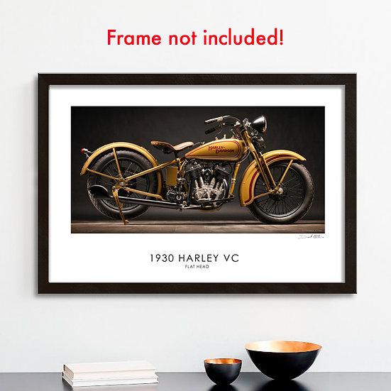 """1930 Harley-Davidson 30""""x 20"""" Archival Print."""