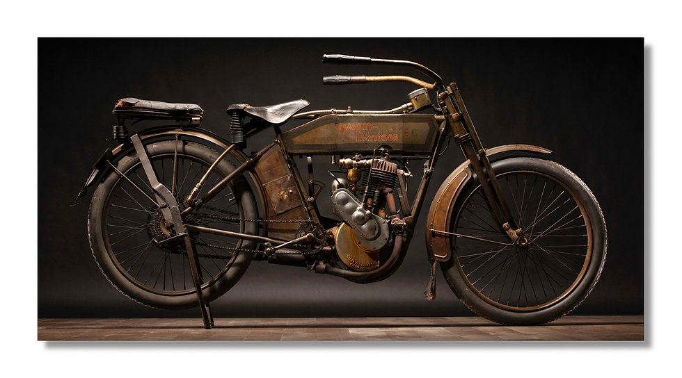 "48""x 24"" Limited Edition Aluminum Print  1913 Harley Davidson 9B"
