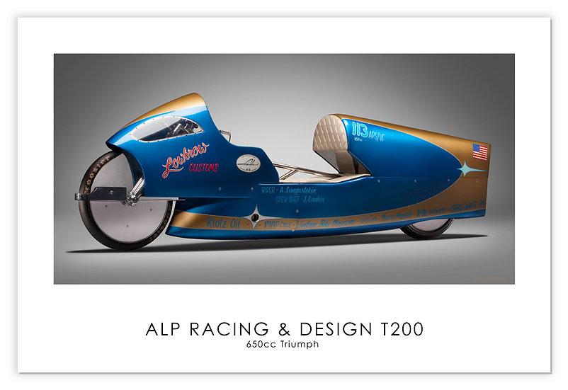 """Triumph650cc """"T200"""" 30""""x 20"""" Print."""
