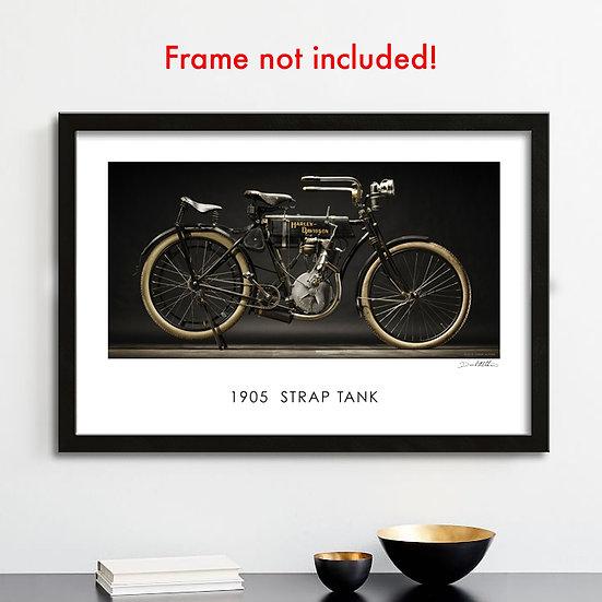 """1905 Harley-Davidson Strap Tank 30""""x 20"""" Archival Poster"""