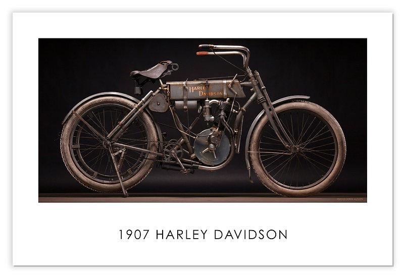 "1907 Harley-Davidson Strap Tank 30""x 20"" Poster."