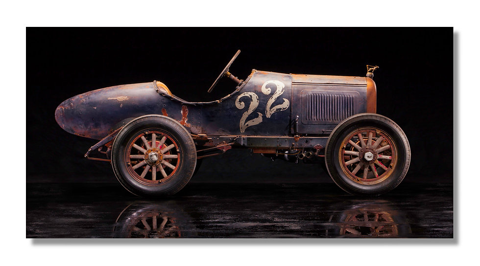 """48""""x 24"""" Limited Edition Aluminum Print  1926 WHIPPET SPEEDSTER"""