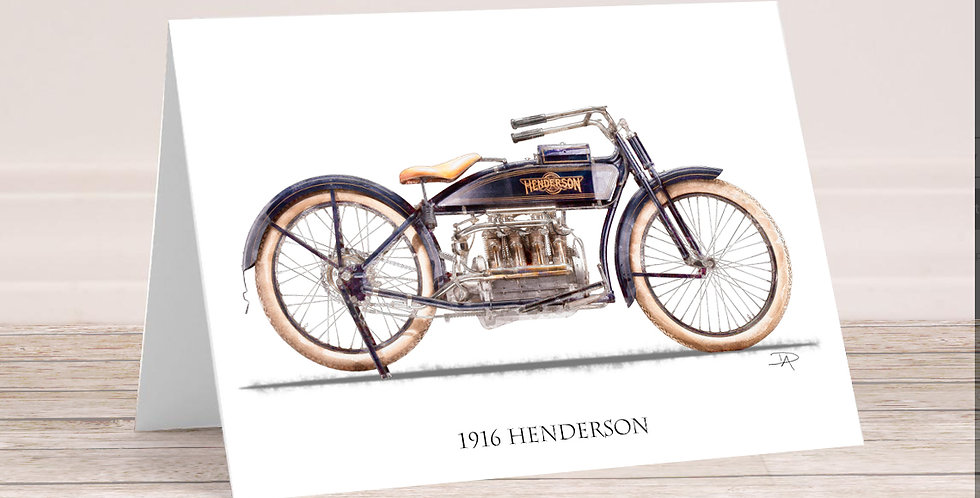 1916 Henderson 5x7 Card with envelope.