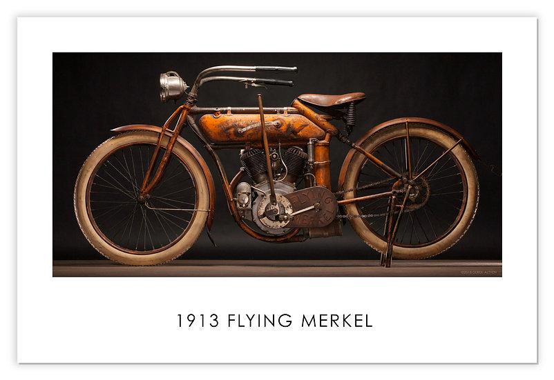 "1913 Flying Merkel 30""x 20"" Archival Print."