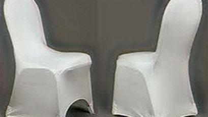 Housse de chaise lycra - Blanche