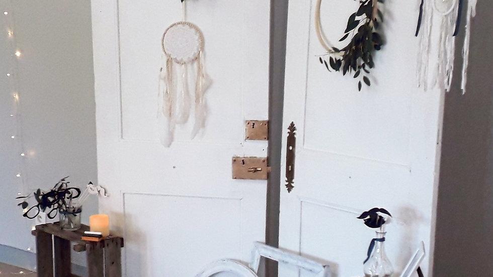 Portes anciennes blanchies - 1 paire