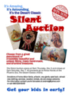 DESERT CLASSIC 2019 Silent Auction Flyer