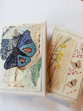Mixed Media Cover for Small Notebook