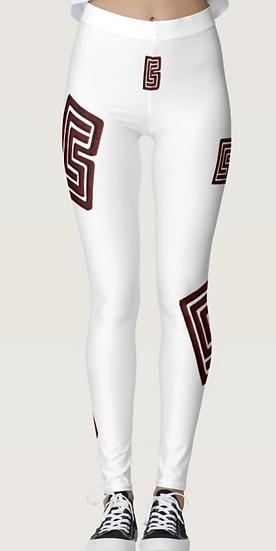 BCS Logo White Leggings