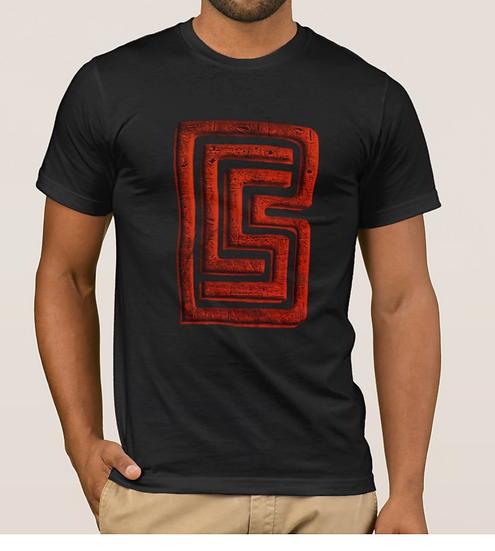 Red BCS Logo Blk Tshirt