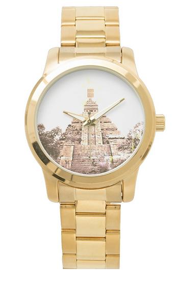 Unisex Oversized Gold Bracelet Watch