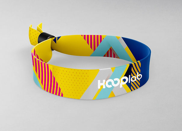 HL Fabric Wristband - colour print for w