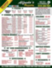 Alfredos menu june6 2019