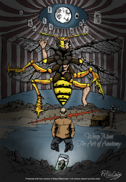 The Art of Anatomy_signed Wasp Man