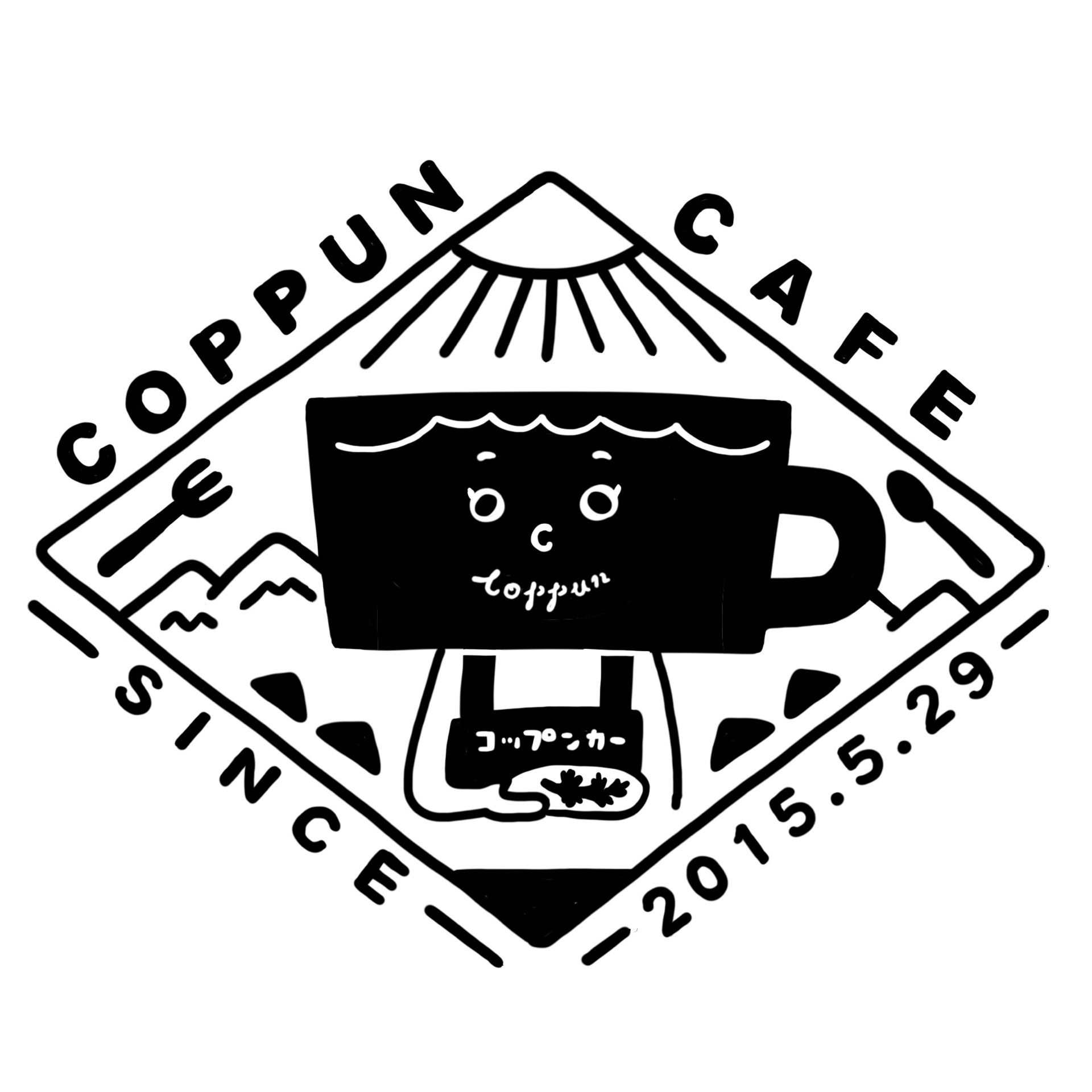 Coppun Cafe Tシャツ