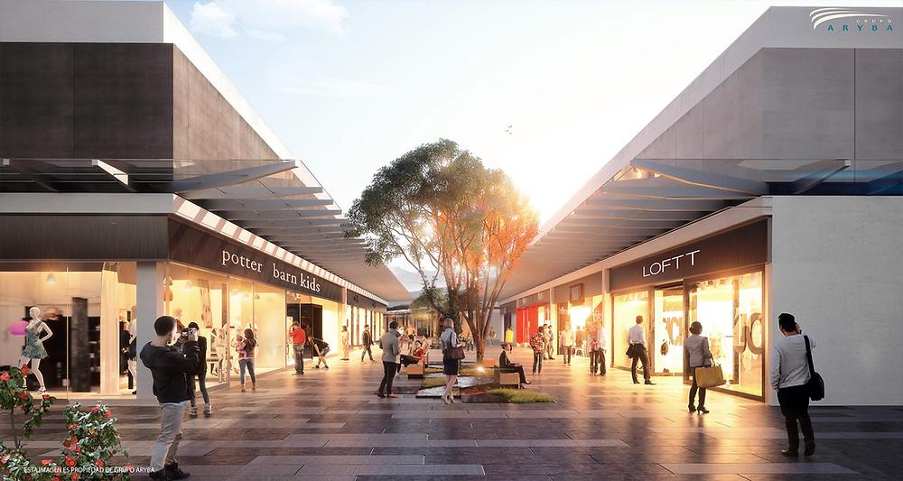 Render de cómo quedará el centro comercial Altaria